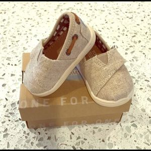 Baby Toms Natural Burlap Bimini Shoe - Toddler 3